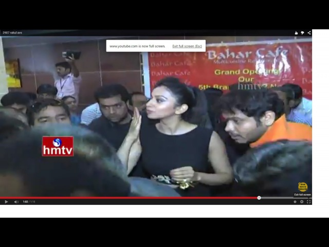 Tollywood Actress Rakul Preet Singh Hungama at SR Nagar Bahar Cafe Bahar Cafe Inauguration HMTV