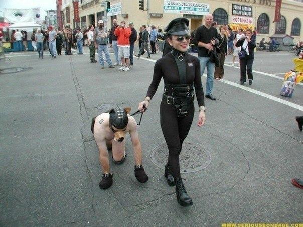 Femdom city public slave humiliation exclusive photos