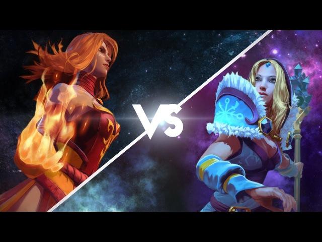 Эпическая Рэп Битва в Dota 2 : Lina Vs CM (Crystal maiden)