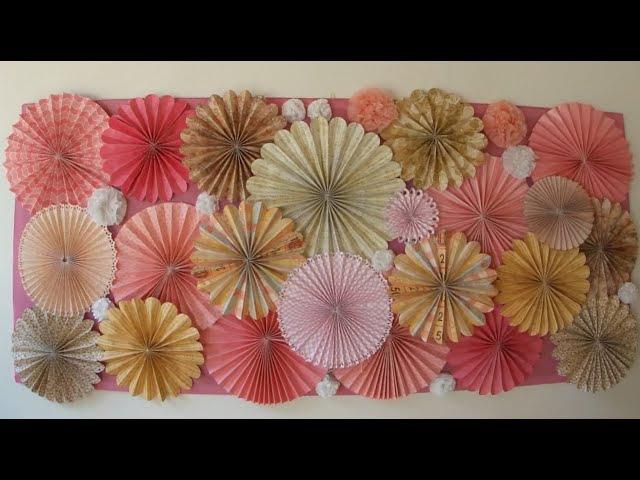 Roseta de papel Paper Fan Rosettes
