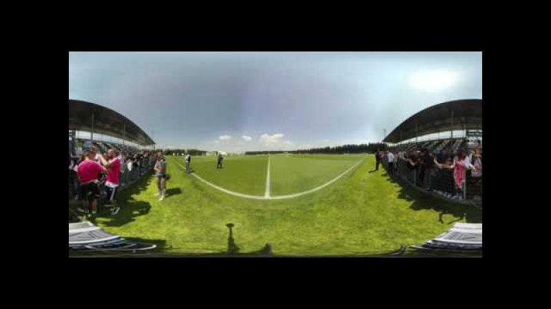 Vinovo, l'allenamento della Juve a 360° - 360° Juventus training experience