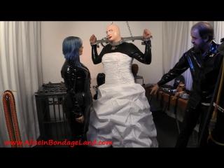 Mistress alice - wedding dress fetish - rubber crossdressing transformation