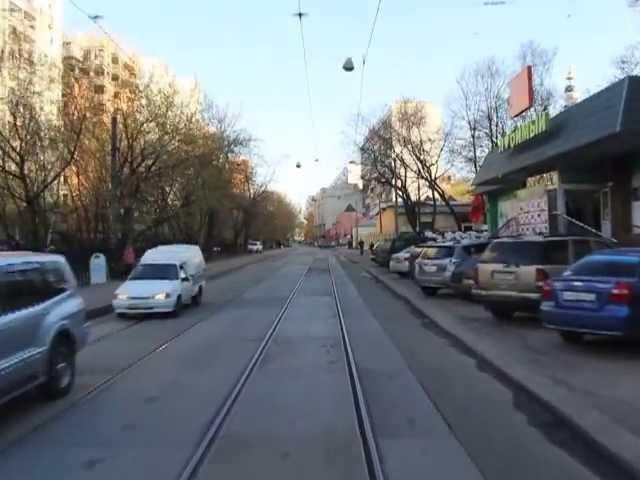 Трамвай 9. Метро Белорусская - МИИТ