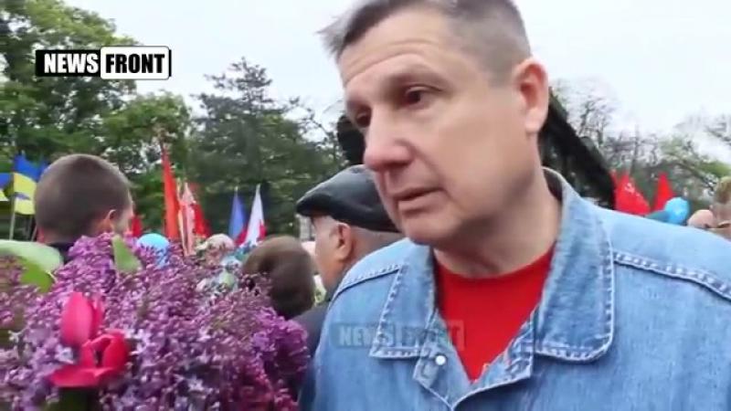 Укропатриотка вообразившая себя журналисткой оторопела от мнения жителя Днепропетровска