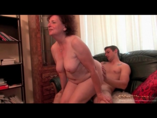 Chubby granny chick on his dick to ride granny porn
