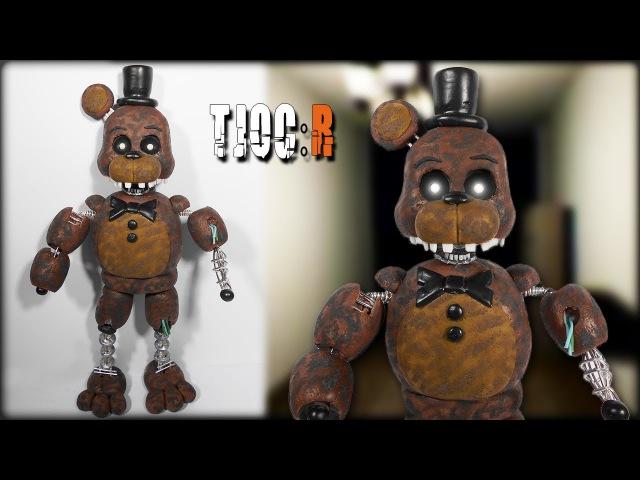 TJOC R ✰ Ignited Freddy Posable Figure Tutorial ✔ Polymer Clay ✔ Porcelana Fría