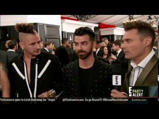 DNCE Interview With Ryan Seacrest on the Grammy's Red Carpet - February 12th, 2017