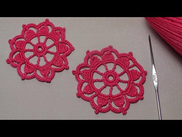 Как связать ажурный мотив круг вязание крючком для начинающих Education crochet