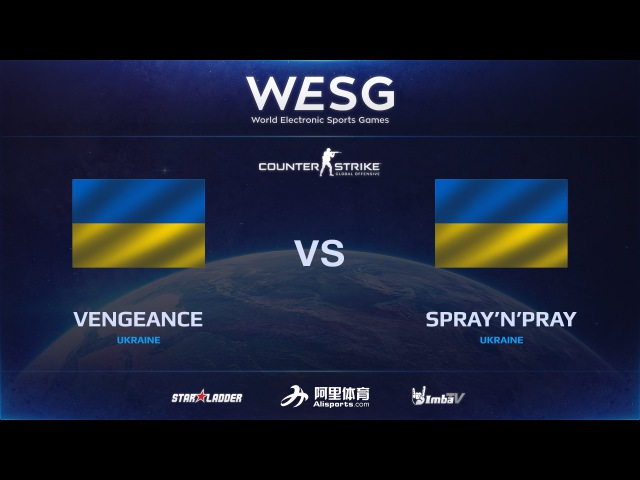 [RU] spraynpray vs Vengeance, map 2 cache, WESG CSGO European Qualifiers