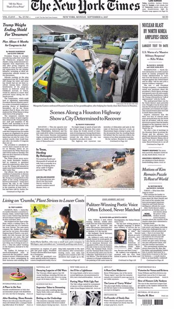The New York Times September 04 2017