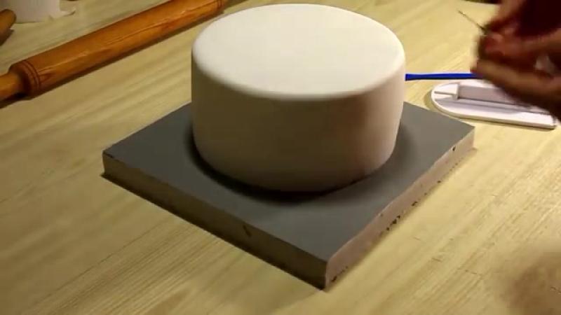 Как обтянуть торт мастикой 6 Я ТОРТодел
