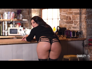 Charlotte springer - charley teasing in sexy black dress uk  big ass lingerie