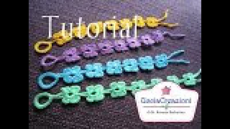 Tutorial 8 * Bracciali Farfalla * Simil Cruciani How to Butterfly Crochet Bracelets