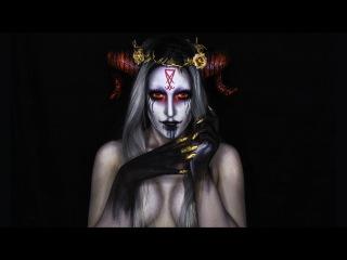 Black Magic Demon Halloween Makeup Tutorial