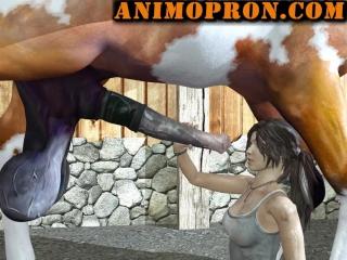 Lara with horse animo