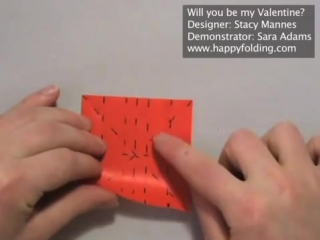 Valentines Day Origami Instructions- Will you be my Valentine (Stacy Mannes)