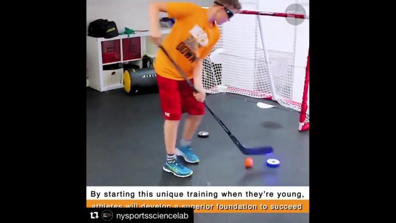 Fitlight Trainer в хоккее Тренировка юных хоккеистов с использованием тренажера Фитлайт Отработка фокуса внимания координации