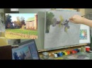TomFisherArt 27 Ye Old Farmstead Block-In Demo Part 1 of 2
