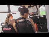 Под юбкой у красотки в транспорте - видео ролик с сайта zasadil net