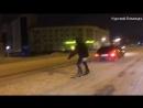 По Красной площади на сноуборде) Курский Бомондъ