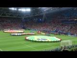 ЧМ 18 Бразилия-Бельгия 14 (выход команд,гимн Бразилии)