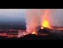 Извержение вулкана красивое видео съёмка с вертолета 2016