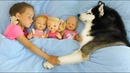 My super fun day with Baby Dolls, Sofia Pretend play with Toys for girls