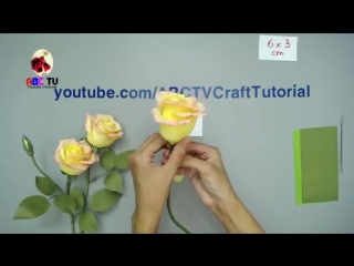 ABC TV _ How To Make Rose Paper Flower From Crepe Paper - Craft Tutorial.mp4