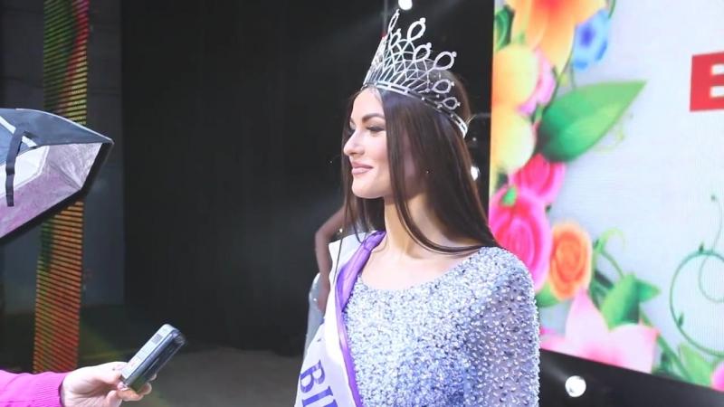 Міс Вінниця 2018. Интервью с победительницей (Алиной Бабий) сразу после конкурса.