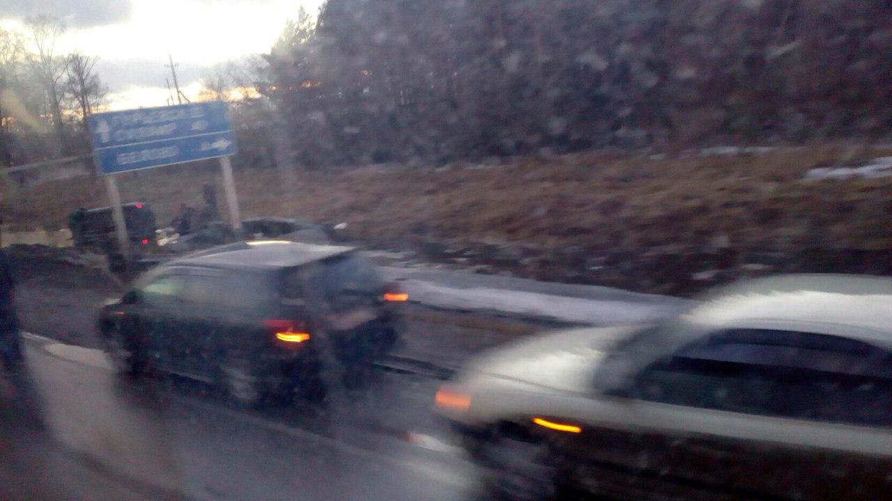 naMS2L 0ulo - На трассе Гурьевск Белово, недалеко от третьего микрорайона, произошла авария,