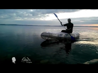 Самодельный каяк из веток и тента homemade kayak