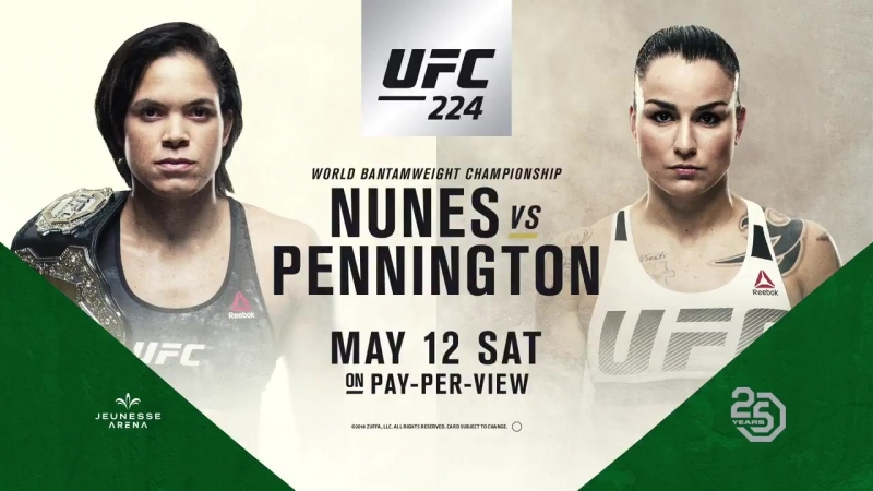 The Octagon returns May 12 for UFC224! - - @Amanda_Leoa vs. @RockyPMMA for the WBW championship. Who takes it