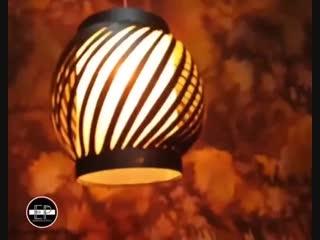 Оцените лампу, сделанную из куска трубы - vk.com/tricks_lf