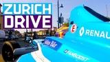 Sebastien Buemi Drives On The Streets Of Zurich ABB FIA Formula E Championship