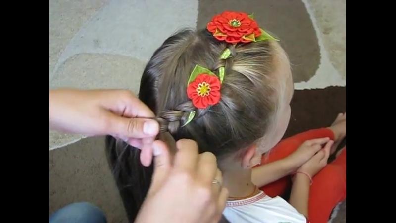 Вплетение ленты в косу