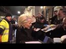 Footage of a pre-Bafta awards dinner party in Mayfair, London on Saturday night featuring Gillian Anderson, Damian Lewis and Gre