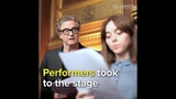 Performers took to the stage at the UK's Houses of Parliament