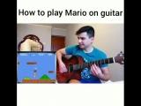 Саундтрек к Супер Марио на гитаре!