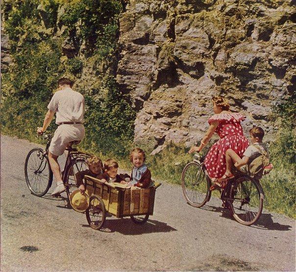 Загородная велопрогулка во Франции, 1951 год.