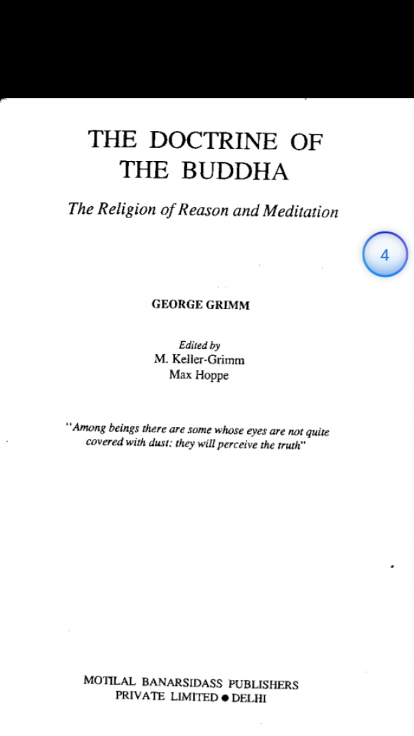 Grimm  George - The Doctrine of the Buddha  01-Introduction