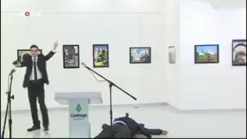 The alleged gunman who shot Russia's ambassador to Turkey in Ankara