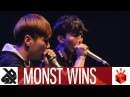 MNSTWNSS (HISS TWO.H) | Grand Beatbox TAG TEAM Battle 2017 | Elimination