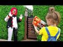 Nerf War - Scary Killer Clown 2 Нерф Битва с Киллер Клоуном
