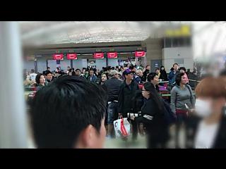NEWS VIDEO 170424 EXO XIUMIN @ Incheon Airport TV