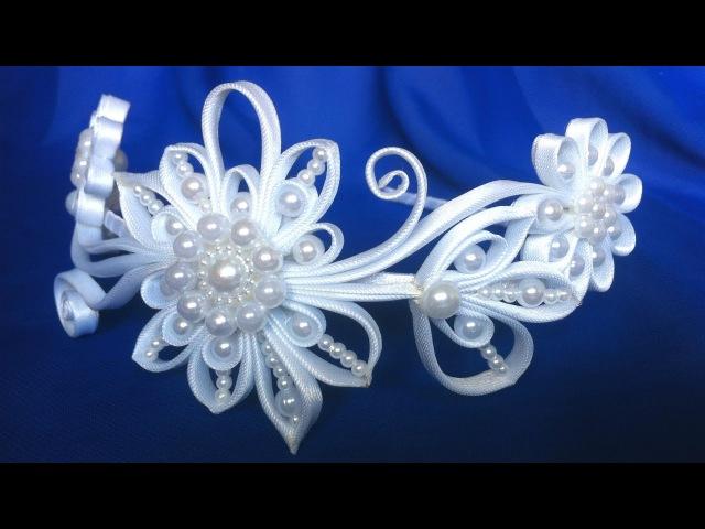 Ободок квилинг Завитки из косой бейки своими руками МК DIY Quilling Bezel Curls from oblique beiki