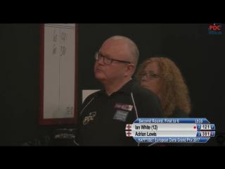 Ian White vs Adrian Lewis (European Darts Grand Prix 2017 / Round 2)