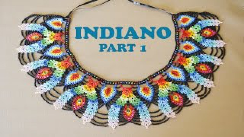 DIY part 1 INDIANO NECKLACE in Saraguro stitch. Thumbs UP to see the 2nd part
