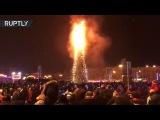 Шоу продолжается: в Южно-Сахалинске сгорела главная городская ёлка