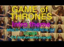 1 girl 14 instruments singing Game of Trones Intro