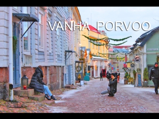 Финляндия старый порвоо / old town of porvoo / vanha porvoo, suomi.